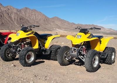 3 Yellow Honda 250cc