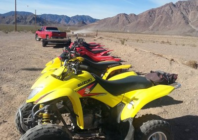 7 Suzuki LTZ 250 Yellow with 6 pk rack
