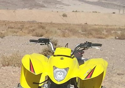 7a Suzuki 250 Yellow with 6 pk rack